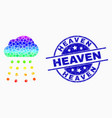 spectrum pixelated rain cloud icon and vector image vector image