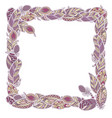 square decor element in a shape of a frame in vector image vector image