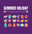 summer holiday stickers collection vector image vector image