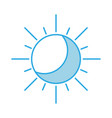 summer sun isolated icon vector image