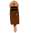 Sweet ice cream police officer vector image