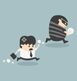 Thief stealing bulb from another Businessman vector image vector image