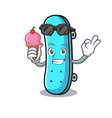 with ice cream skateboard character cartoon style vector image