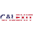 Word Calexit USA flag