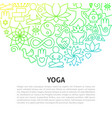 yoga line concept vector image