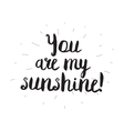 You are my sunshine Greeting card with modern vector image vector image