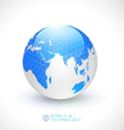 World globe transparency and tech concept vector image