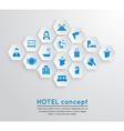 Hotel travel accommodation emblem vector image
