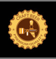 craft beer premium label icon of beer tap vector image