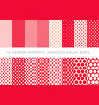 16 patterns seamless polka dots set red background vector image