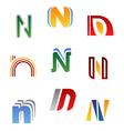 alphabet symbols vector image vector image