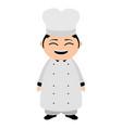asian chef cartoon character vector image