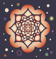beginning of spring power mandala vector image vector image