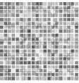 black and white halftone mosaic square background vector image vector image