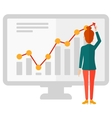 Business woman presenting report vector image vector image