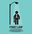 Businessman Walking Under Street Lamp vector image