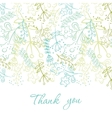 Card with doodle flowers vector image vector image