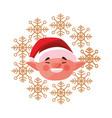 christmas elf face wreath decoration vector image vector image