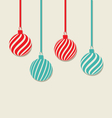 Christmas hanging balls with copy space for your vector image vector image