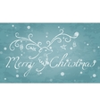 Christmas reindeer with text Merry Christmas vector image vector image