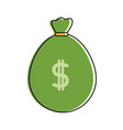 color bag to save cash money with peso symbol vector image