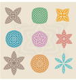 Colorful line art in flower abstract vector image vector image