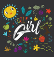 Cool girl to print T-shirts vector image