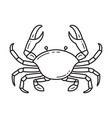 crab black line icon design vector image vector image