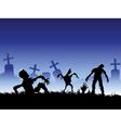 creepy zombie vector image vector image