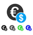 currency flat icon vector image vector image