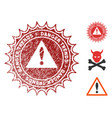 danger trends stamp with grungy texture vector image
