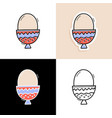 egg set hand drawn doodle egg icon collection vector image