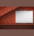 empty mockup billboard on brick wall vector image vector image