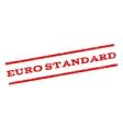 Euro Standard Watermark Stamp vector image vector image