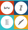 flat component set of windshield conrod steels vector image vector image