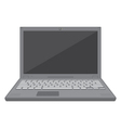 flat design laptop vector image vector image