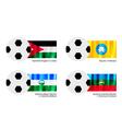Football of Jordan Kalmykia Kabardino Balkaria vector image vector image