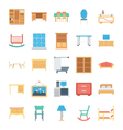 Furniture Colored Icons 3 vector image vector image