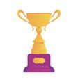 goblet or cup concept golden award winning prize vector image