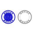 grunge movies scratched stamps vector image vector image