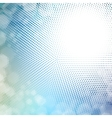 halftone mosaic with sun flares and bokeh vector image vector image