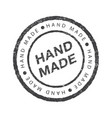 hand made - circle grunge stamp or insignia flat vector image vector image