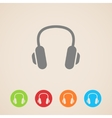headphones icons vector image