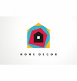 home decor logo design icon house decoration vector image vector image
