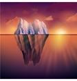 Iceberg On Sunset vector image
