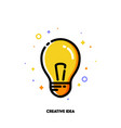icon with light bulb as creative idea symbol vector image vector image