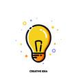 icon with light bulb as creative idea symbol vector image