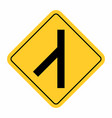 junction traffic road sign vector image vector image