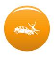 knock down icon orange vector image