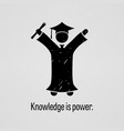 knowledge is power a motivational and vector image vector image